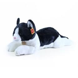 Plyšová ležící kočka - černobílá - 35 cm - Rappa