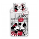 Bavlněné povlečení na jednolůžko - Mickey a Minnie v Benátkách - Jerry Fabrics