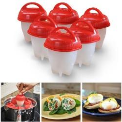 Pohár na vaření vajec - silikonový - 6 ks