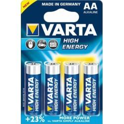 Alkalické baterie High Energy - 4x AA - 1,5V, 2930mAh - Varta