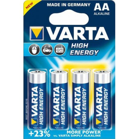 Varta High Energy 1,5V, 2930mAh - 4x AA alkalická baterie