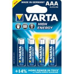 Alkalické baterie High Energy LR03 - 4x AAA - 1,5V - Varta