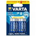 Varta 1,5V High Energy - 6x AA alkalická baterie