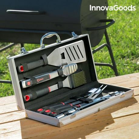 Kufřík s profesionálním grilovacími náčiním InnovaGoods - 11 částí