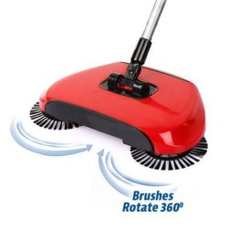 Podlahový mechanický smeták Sweep Drag - červený