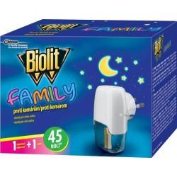 Elektrický odpařovač proti komárům Biolit Family - 45 nocí