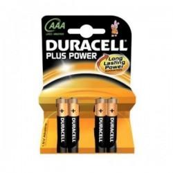 Alkalické baterie DURLR3P4B - 4x AAA - Duracell