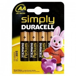 Alkalické baterie DURACELL Simply DURSIMLR6P4B, LR6, 1.5V - 4x AA