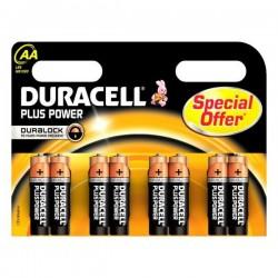 Alkalické baterie DURACELL Plus Power DURLR6P8B, LR6, 1.5V - 8x AA