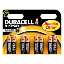 Alkalické baterie Plus Power DURLR6P8B, LR6, 1.5V - 8x AA - Duracell