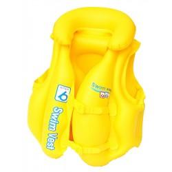 Dětská nafukovací vesta, žlutá - Bestway