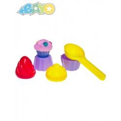 Hračky na písek, zmrzliny - 5 ks - Bayo