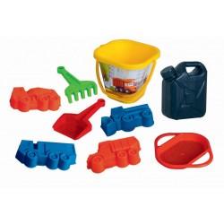 Set hraček na písek Tatra, s kanystrem - 9 ks