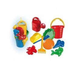 Set hraček na písek, velký - 10 ks
