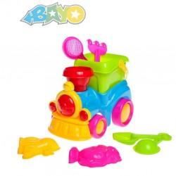 Hračky na písek, mašinka - 8 ks - Bayo