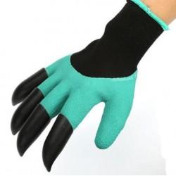 Praktické rukavice pro práci na zahrádce s plastovými drápy pro praváky