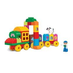 Rappa Blocks kostky vlak s čísly 63 ks
