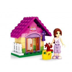 Stavebnice pro dívky - zahradní domek - 44 dílků - AUSINI
