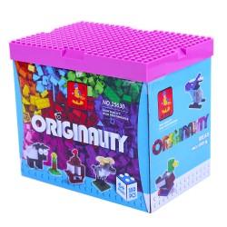 Stavebnice - kostky s hrací deskou - 350 dílků - AUSINI