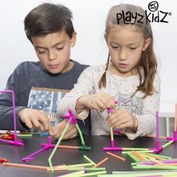 Brčková stavebnice - 194 dílků - Playz Kidz