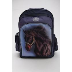 Školní batoh - hnědý kůň