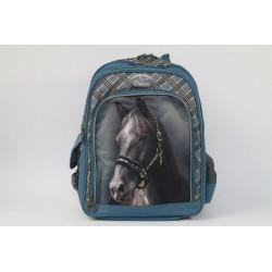 Školní batoh Nice and Pretty - modrý kůň