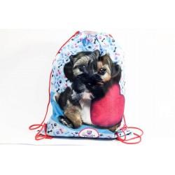 Taška na tělocvik a přezůvky - Sweet Pets - pejsek