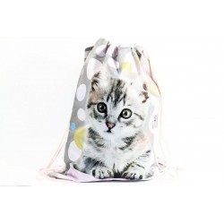 Taška na tělocvik a přezůvky - Sweet Pets - kotě