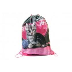 Taška na tělocvik a přezůvky - Sweet Pets - koťátko - BENIAMIN