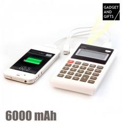 Kalkulačka s powerbankou a LED - 6000 mAh