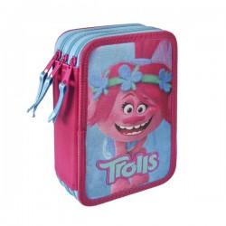 Třípatrový penál s vybavením - Trollové Poppy