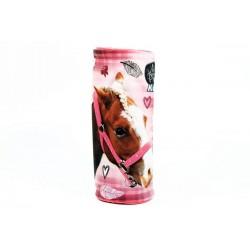 Kulatý penál -  Nice and Pretty - kůň - růžový