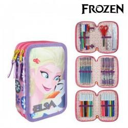 Třípatrový penál s vybavením - Frozen 8546 - fialový