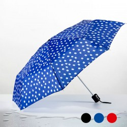 Skládací deštník s puntíky