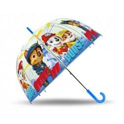 Průhledný deštník - Tlapková Patrola - modrý