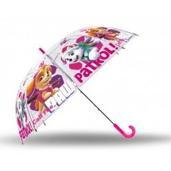 Vystřelovací průhledný deštník - Tlapková Patrola