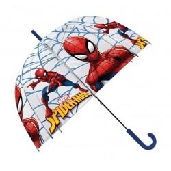 Průhledný dětský deštník - Spiderman