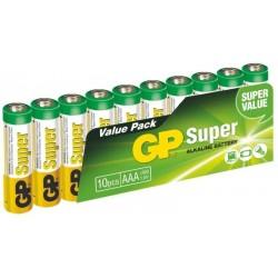 Alkalické baterie GP Super 24A-2VS10, LR03, 1.5V - 10x AAA