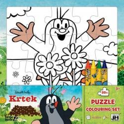 Puzzle k vymalování - Krtek - 20 dílků
