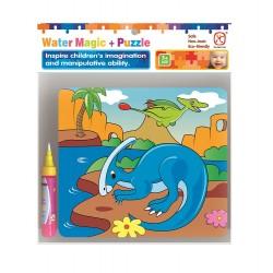 Puzzle na vymalování vodovým perem - Dinosauři