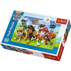 Dětské puzzle - Paw Patrol - Připraveni k akci - 60 dílků