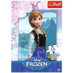 Dětské puzzle - Ledové Království - Anna - 54 dílků