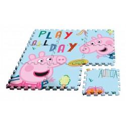 Podlahové pěnové puzzle - Prasátko Pepina - 9 dílů