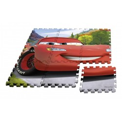 Podlahové pěnové puzzle - Cars - 9 dílů