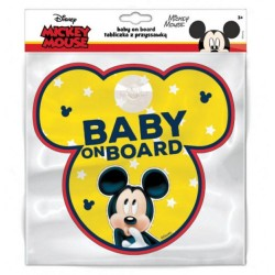 Cedulka s přísavkou - dítě v autě - Mickey Mouse