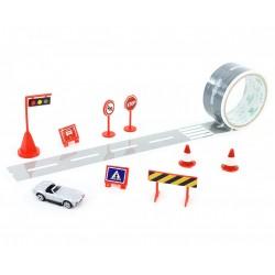 Lepící páska - cesta + auto