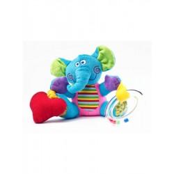 Naučná plyšová hračka - sloník s vibrací a chrastítkem - Sensillo