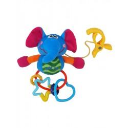 Dětská plyšová hračka s chrastítkem - slůně - Baby Mix