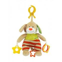 Dětská plyšová hračka s hracím strojkem - medvídek s kapucí - Baby Mix