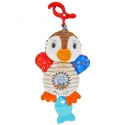 Dětská plyšová hračka s vibrací - tučňák - Baby Mix